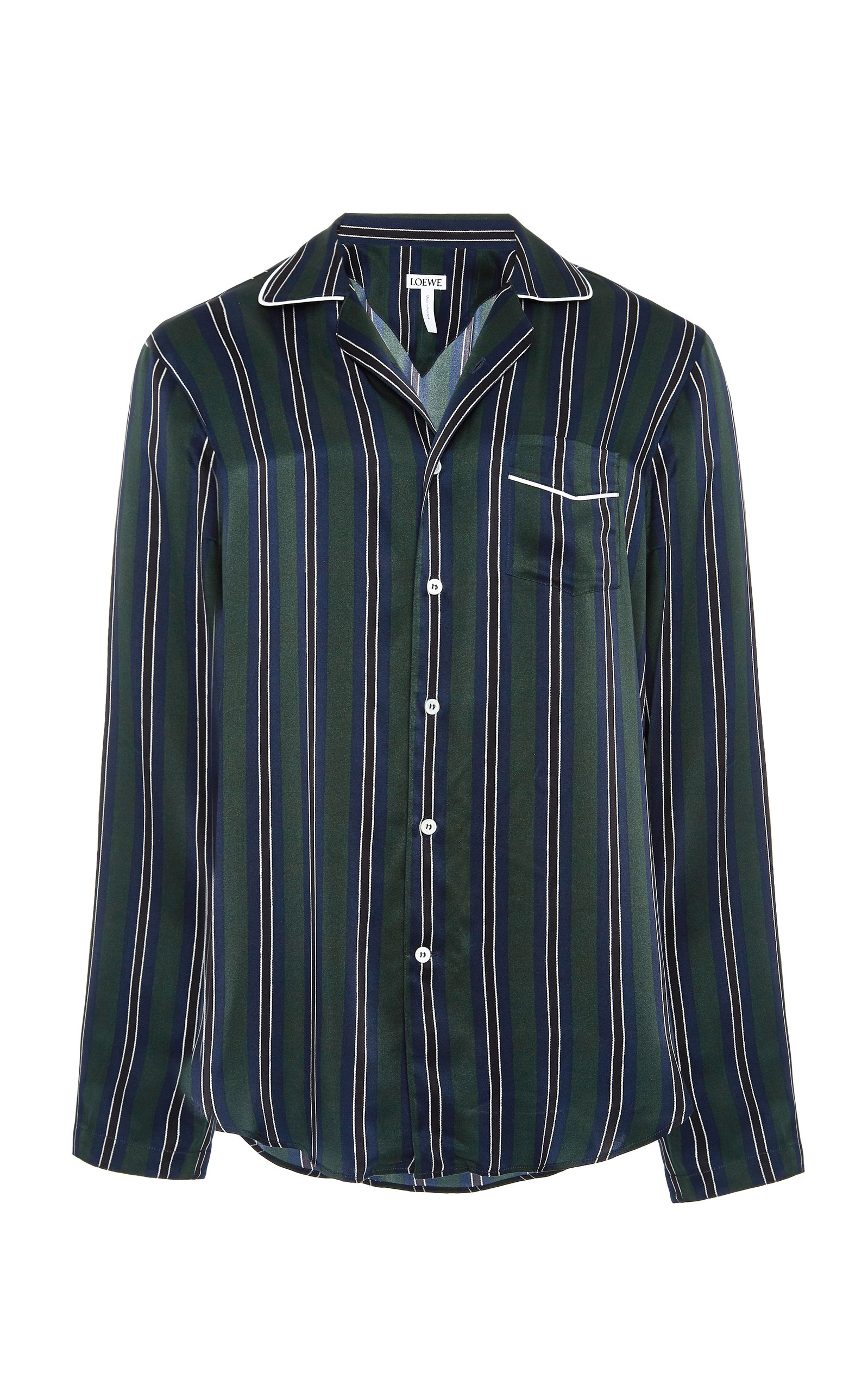LOEWE STRIPED SILK-SATIN SHIRT