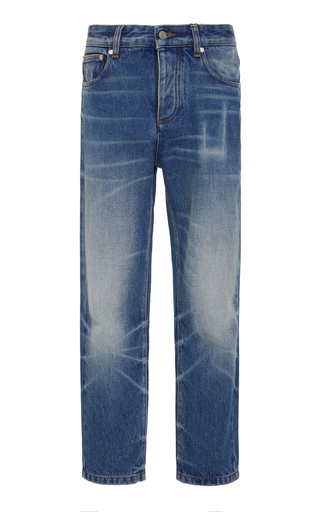 AMI | AMI Faded Cropped Jeans | Goxip