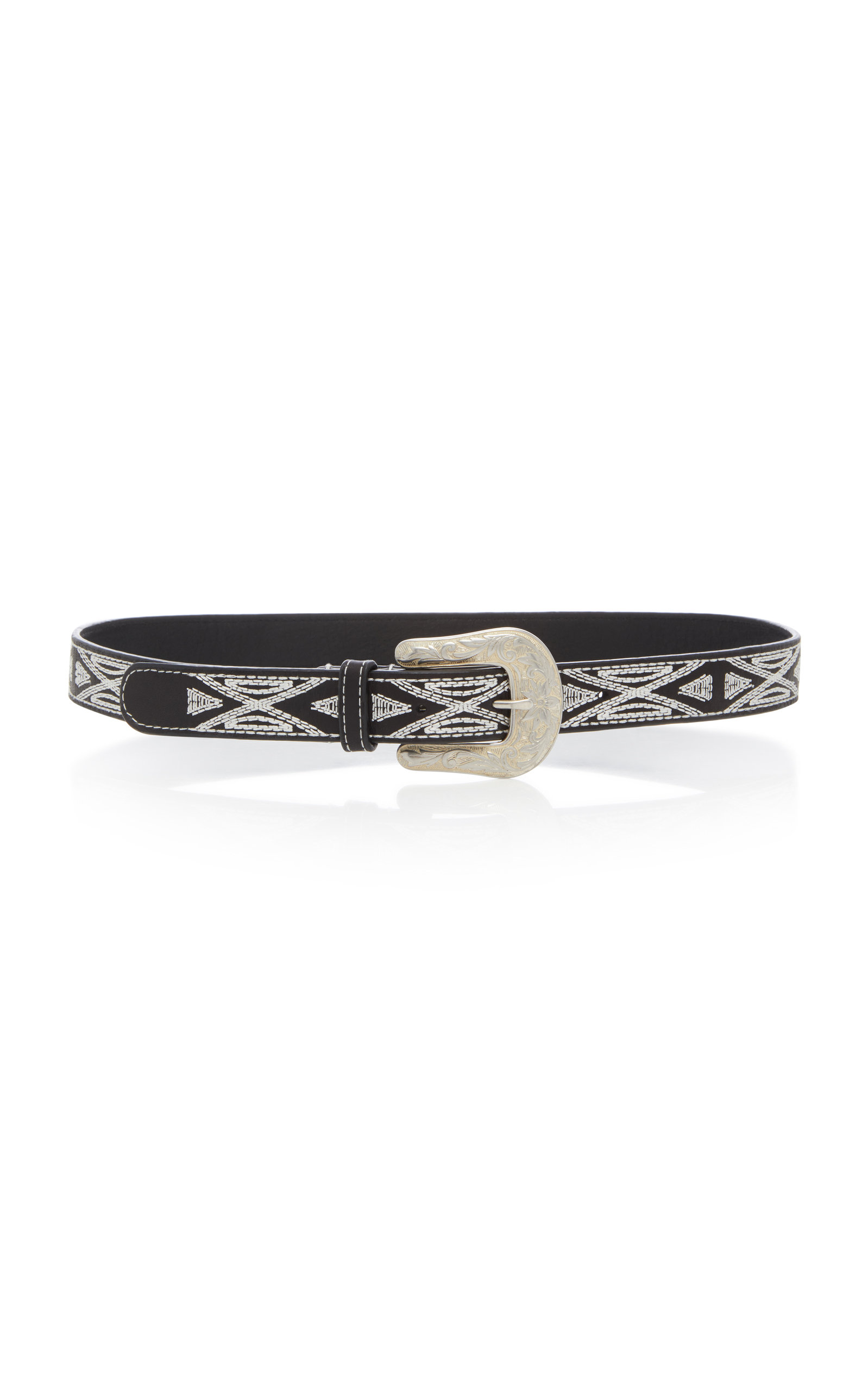 Isabel Marant TETY EMBROIDERED LEATHER BELT