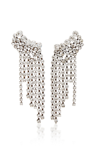 Isabel Marant A Wild Shore Silver-Plated Crystal Earrings