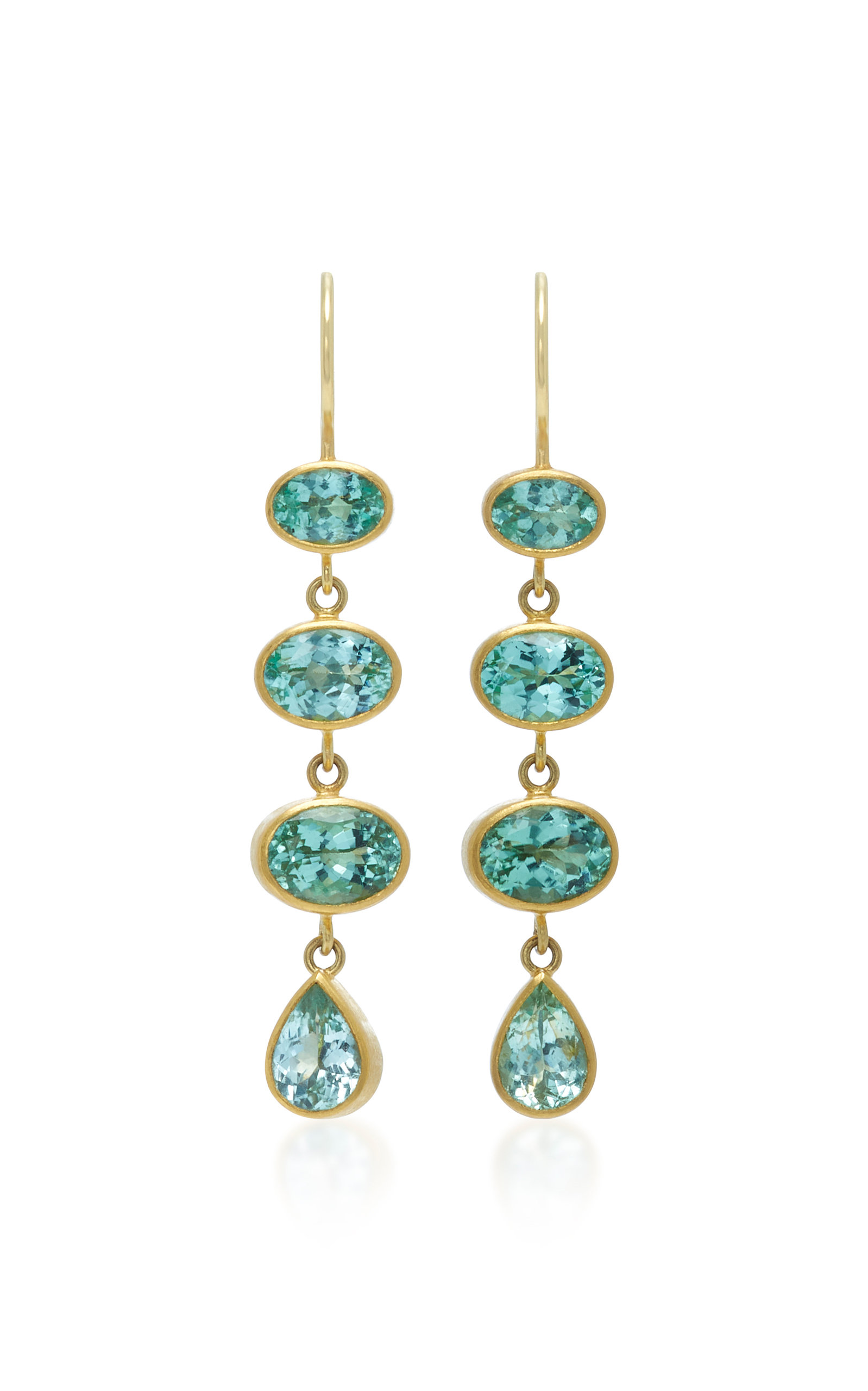 18K Gold Green Paraiba Earrings