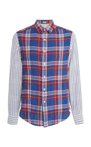 LOEWE | Loewe Checked Cotton-Blend Shirt | Goxip