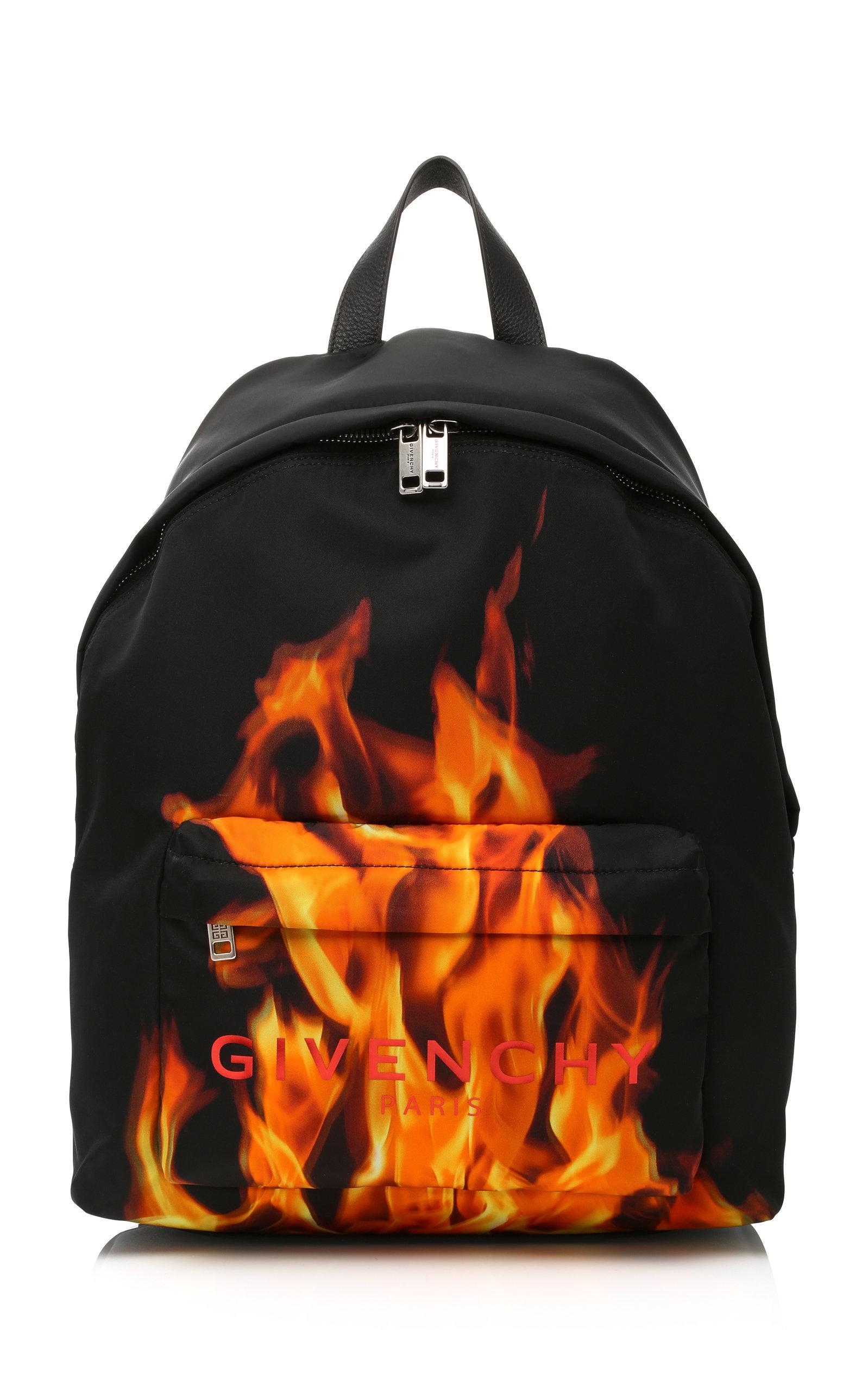 GIVENCHY Flame & Logo Printed Nylon Backpack, Multi