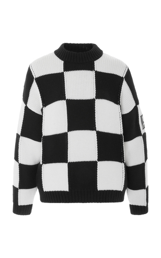 COURREGES   Courrèges Oversized Checkerboard Sweater   Goxip