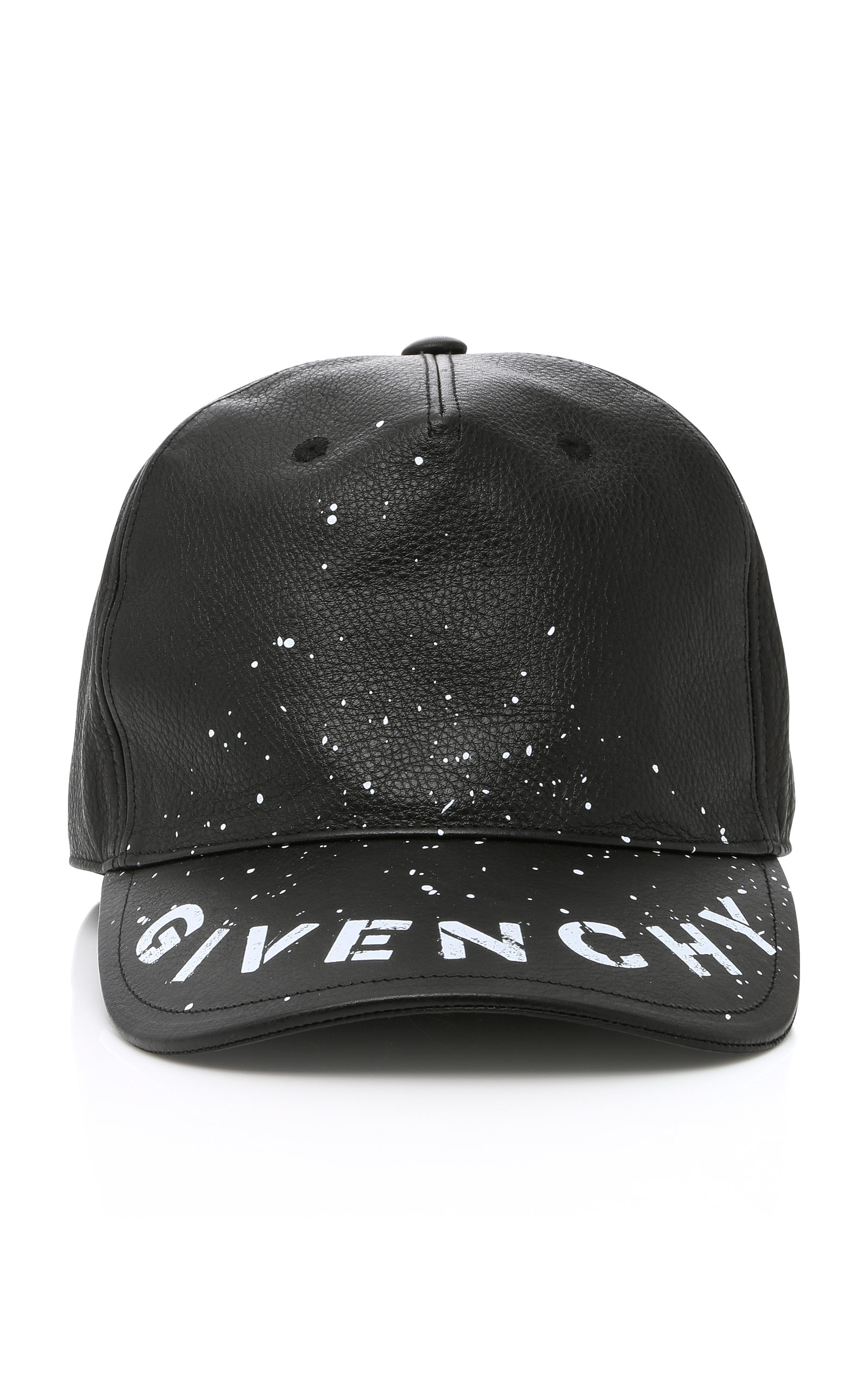 9297ec7b55f7ff Givenchy Logo-Print Leather Baseball Cap - Black - One Siz | ModeSens