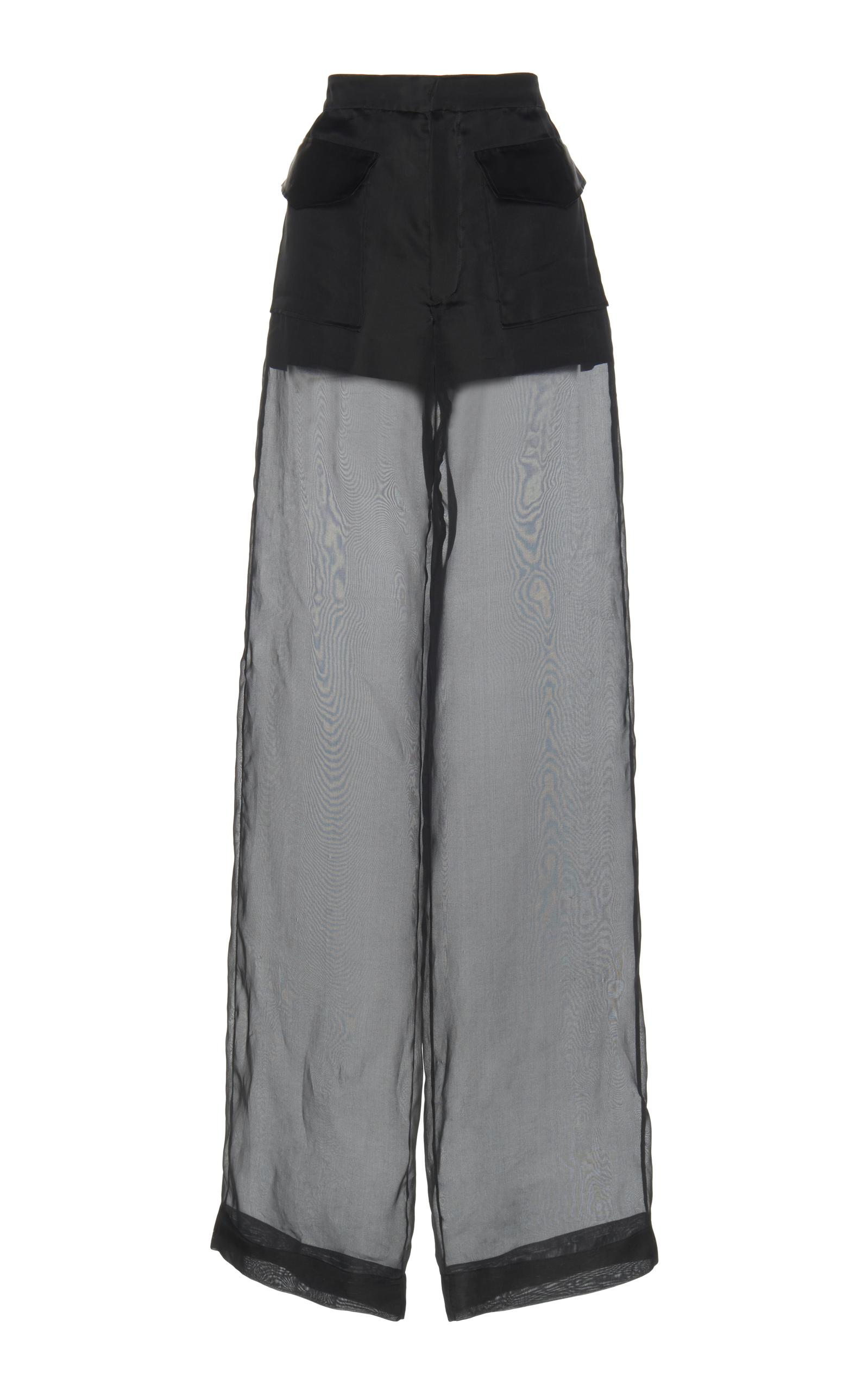 Maison Margiela  Silk Organza Sheer Pants