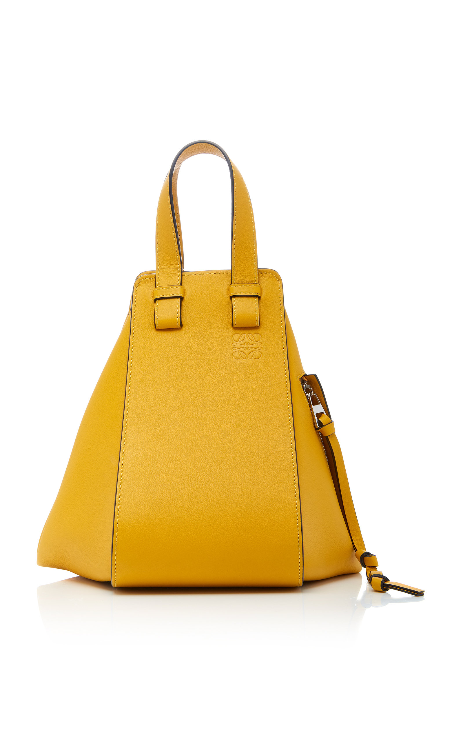 Hammock Small Textured-Leather Shoulder Bag in Yellow