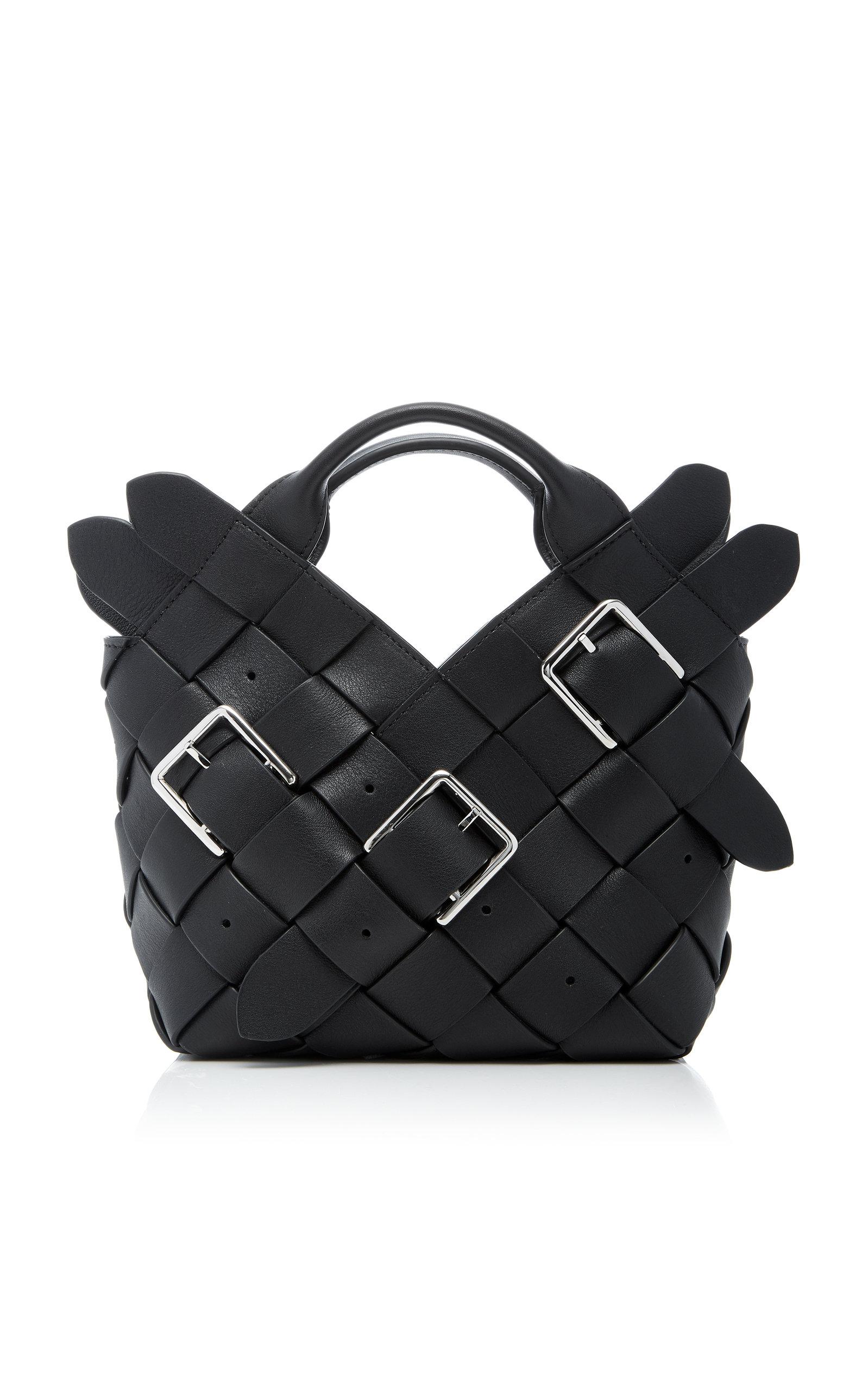 Mini Woven Buckle Leather Basket Bag Loewe inKsX6Y