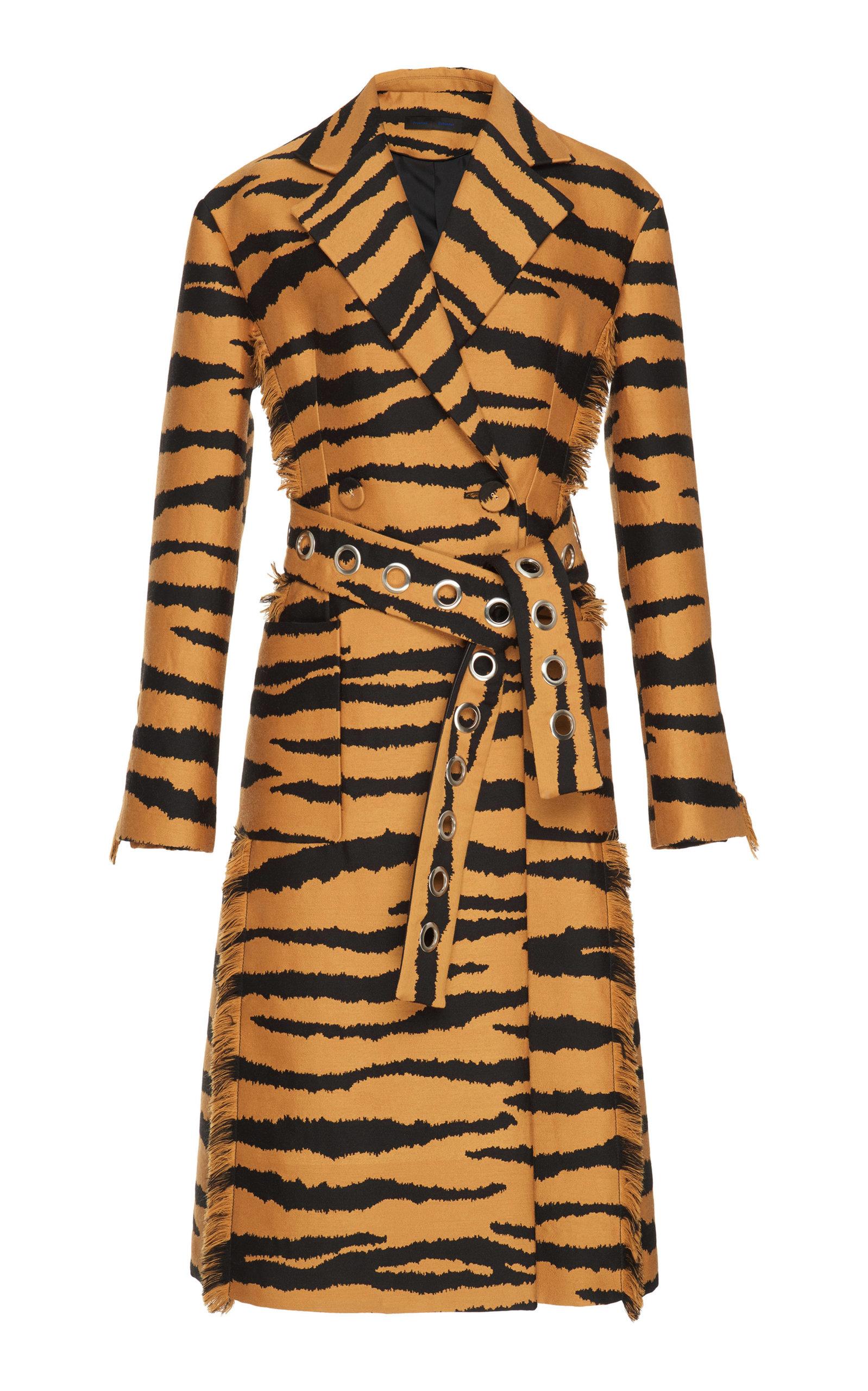 Proenza Schouler  Jacquard Wrap Coat