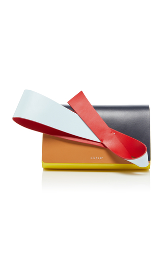 Orchid Paneled Patent And Smooth Leather Clutch Delpozo gRfRD