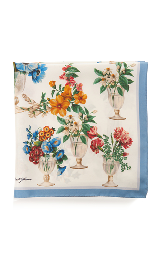 DOLCE & GABBANA   Dolce & Gabbana Printed Silk-Twill Scarf   Goxip