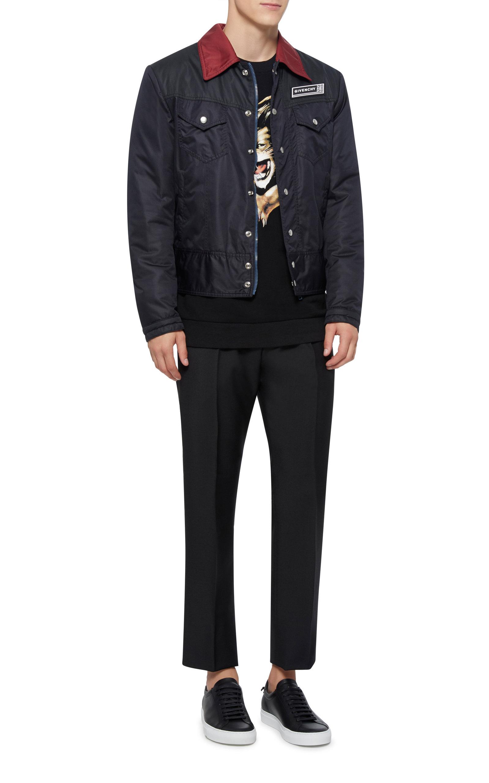 Appliquéd Moda Shell Tone Jacket Givenchy Operandi Bomber By Two 5FfBqzxq