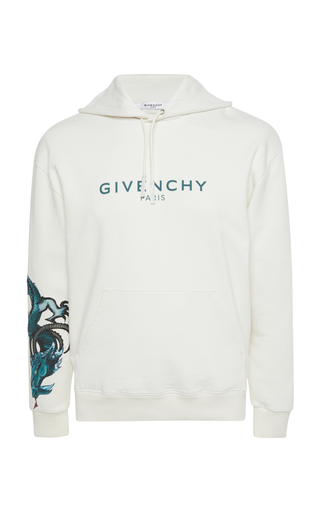 GIVENCHY | Givenchy Capricorn Cotton Logo Hoodie | Goxip