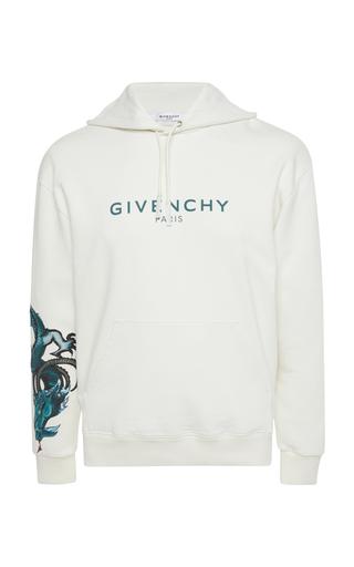 GIVENCHY   Givenchy Capricorn Cotton Logo Hoodie   Goxip