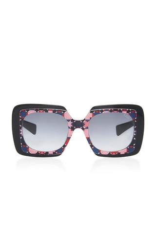 EMILIO PUCCI SUNGLASSES | Emilio Pucci Sunglasses Geometric Square-Frame Acetate Sunglasses | Goxip