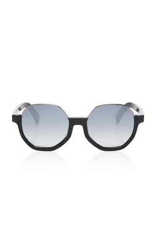 EMILIO PUCCI SUNGLASSES | Emilio Pucci Sunglasses Contrast Frame Round Acetate Sunglasses | Goxip