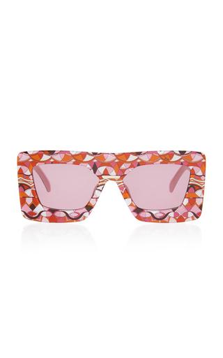 EMILIO PUCCI SUNGLASSES | Emilio Pucci Sunglasses Oversized Printed Square Frame Acetate Sunglasses | Goxip