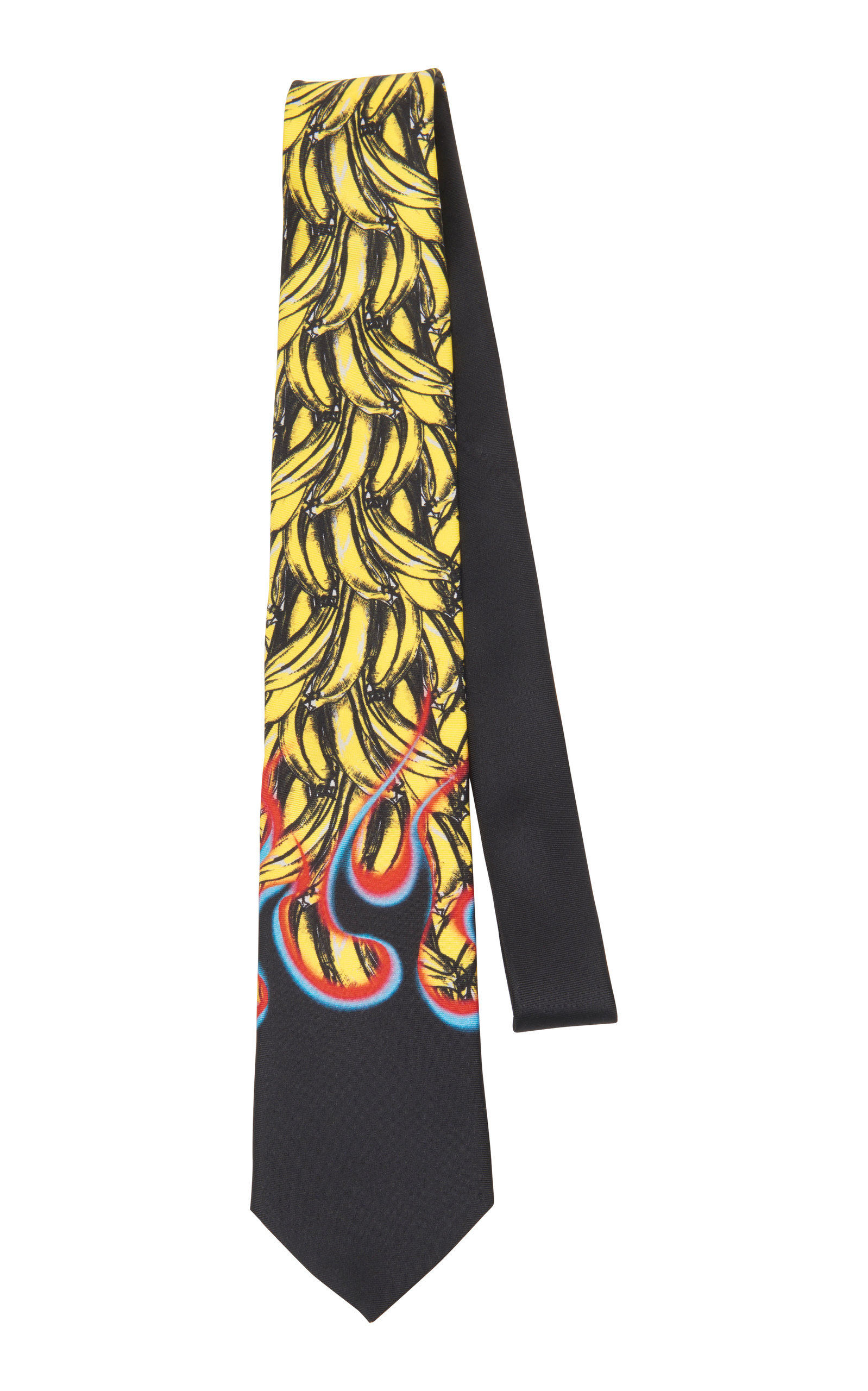 6e3e4a67a255 Banana And Flame Silk Tie by Prada | Moda Operandi