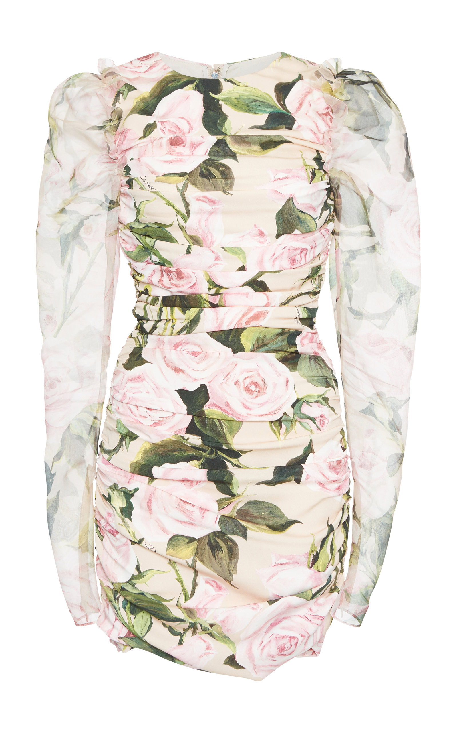 Ruched Floral-Print Stretch-Silk Mini Dress Dolce & Gabbana From China Largest Supplier Cheap Online Cheap 2018 LuI0R