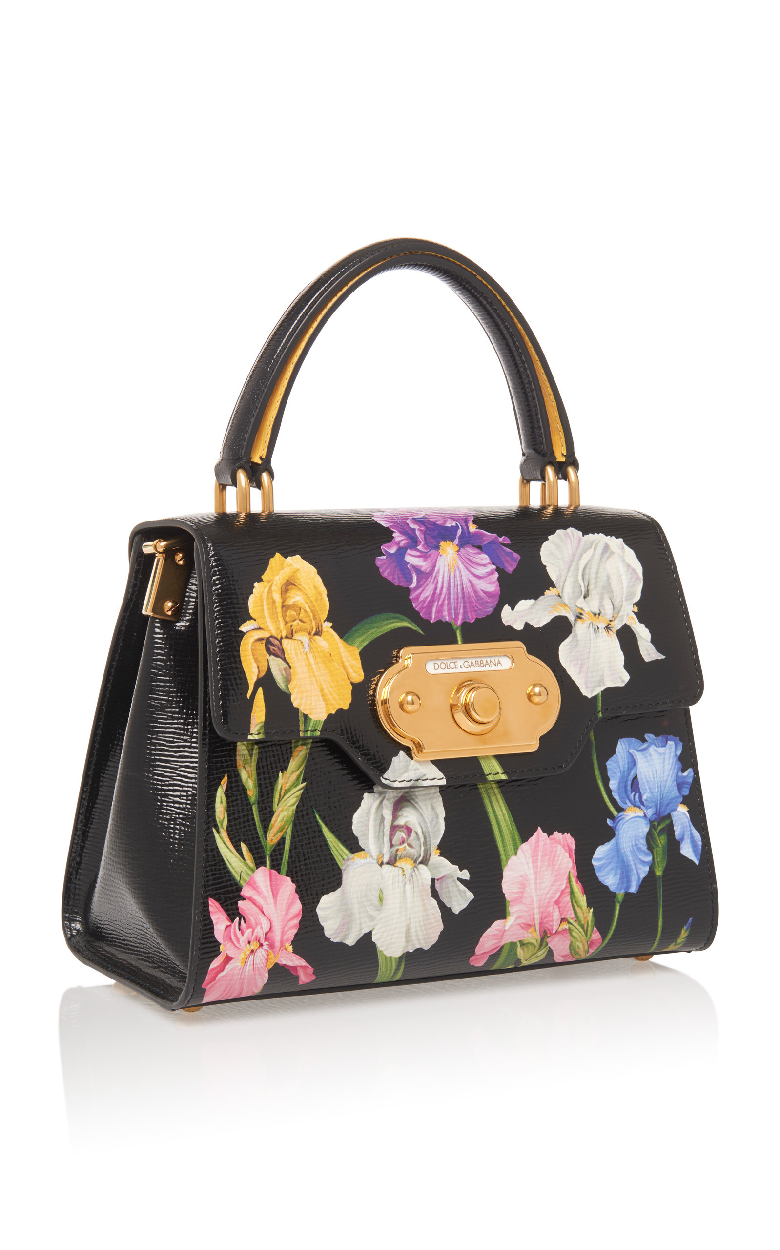 Welcome Floral-Print Leather Shoulder Bag by Dolce   Gabbana  a0f410b3f0076