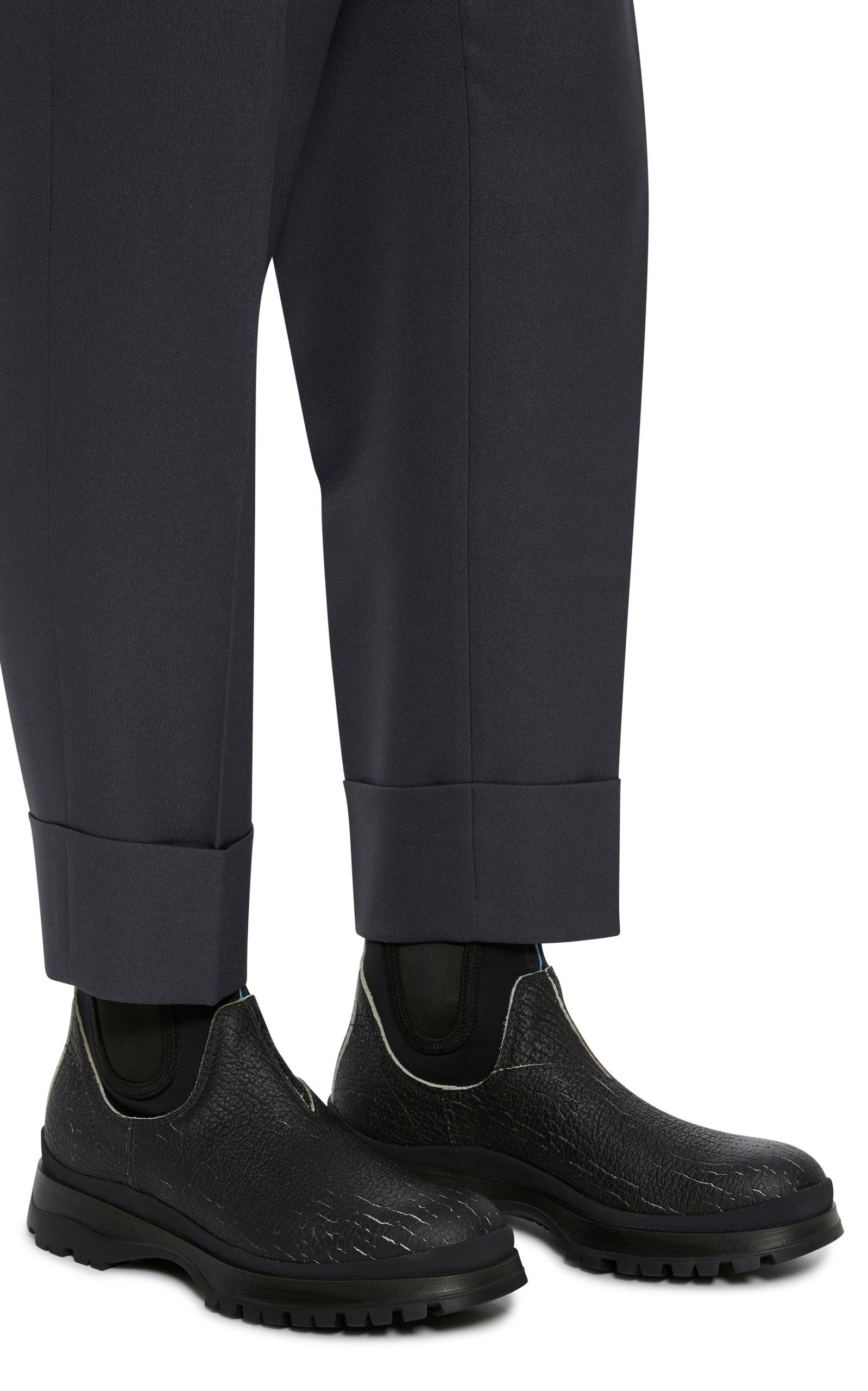 31bcf9738ef6 Leather And Neoprene Chelsea Boots by Prada | Moda Operandi