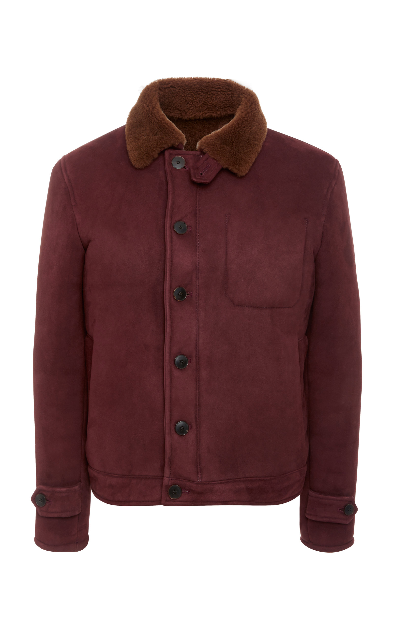 EIDOS SUEDE AND SHEARLING JACKET