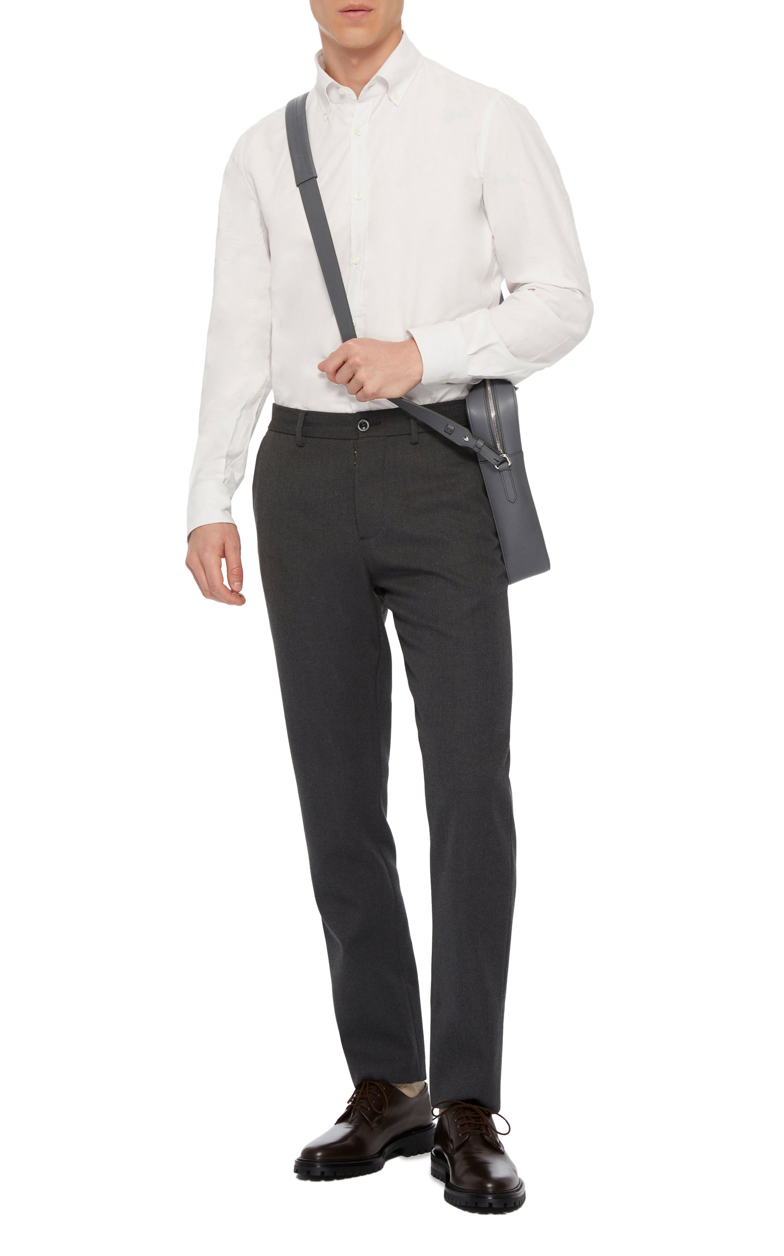 Pincord Cotton Poplin Dress Shirt By Eidos Moda Operandi