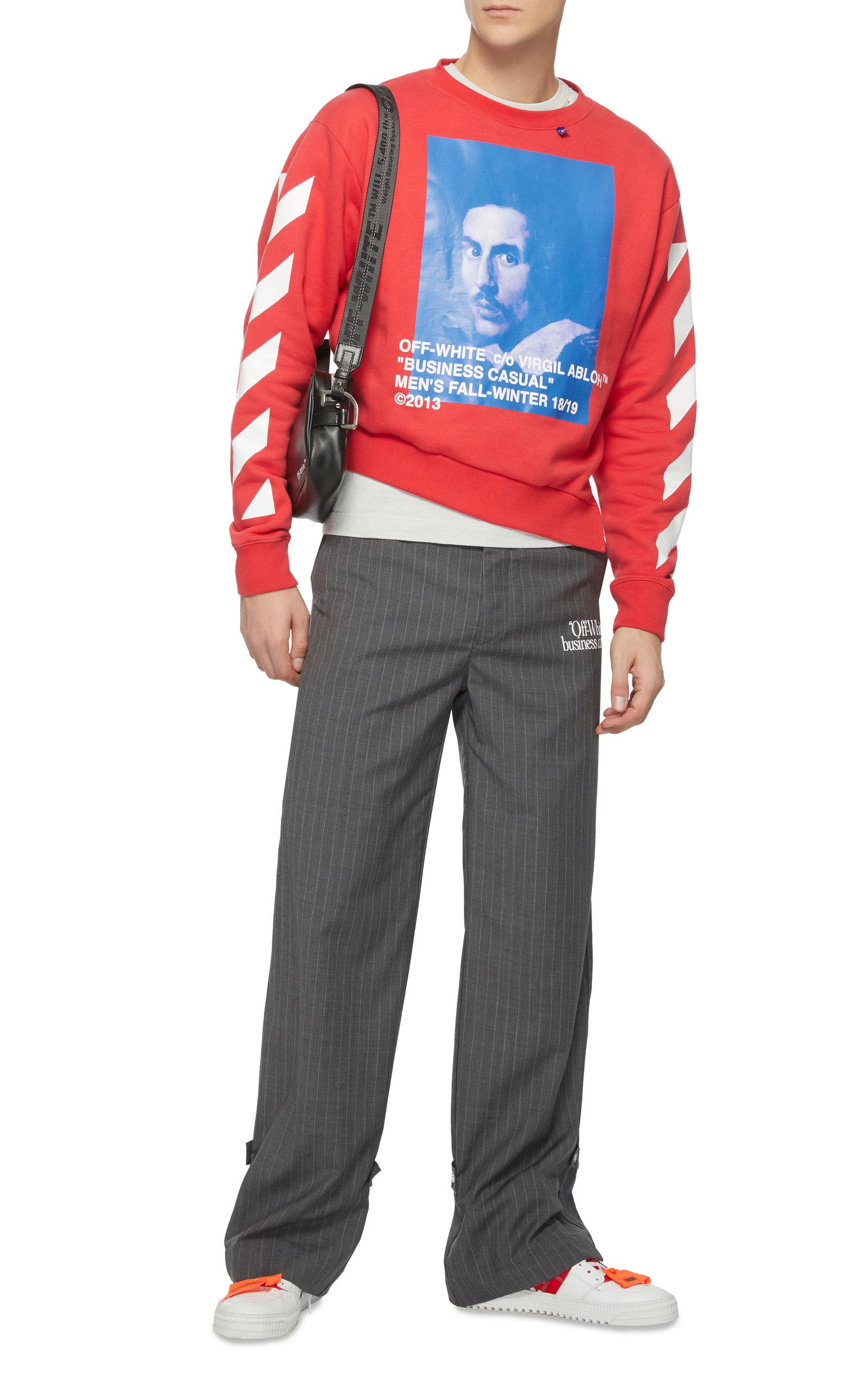 Sweatshirt Printed Cotton Red Back Jersey Fleece qaI4pIZw