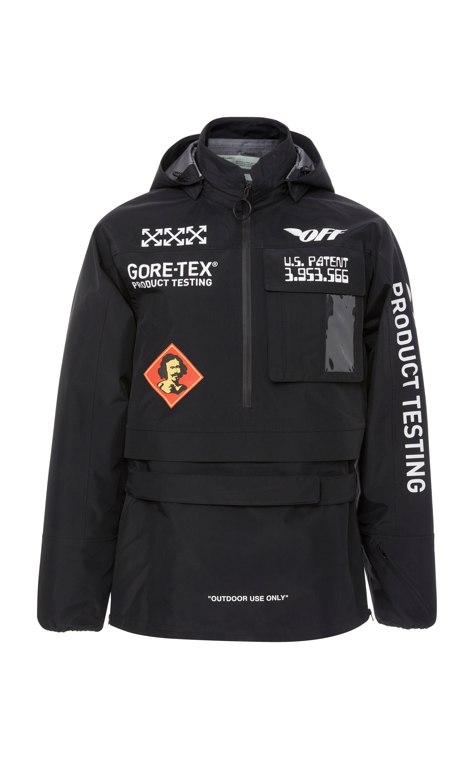 5142cd92 Off-White Black & White 'Gore-Tex®' Anorak Jacket | ModeSens