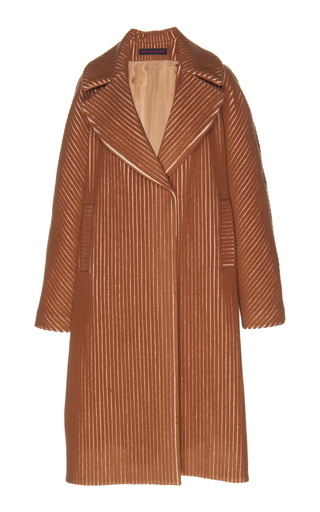 MARTIN GRANT | Martin Grant Wool-Blend Corduroy Cocoon Coat | Goxip