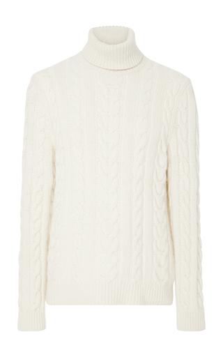 RALPH LAUREN | Ralph Lauren Cable-Knit Cashmere Turtleneck Sweater | Goxip