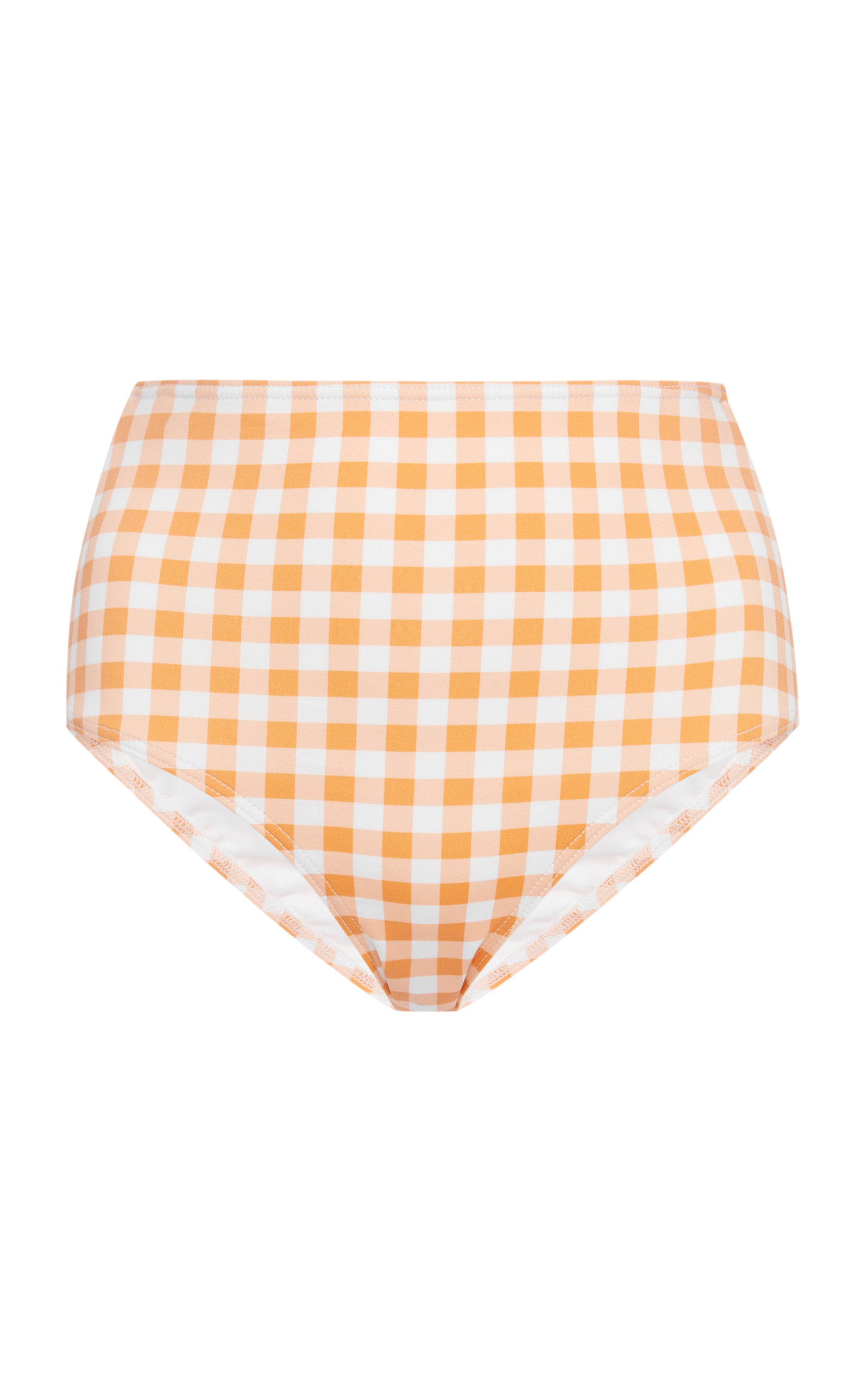 EPHEMERA HIGH-WAISTED GINGHAM BIKINI BRIEFS