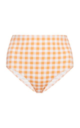 EPHEMERA   Ephemera High-Waisted Gingham Bikini Briefs   Goxip