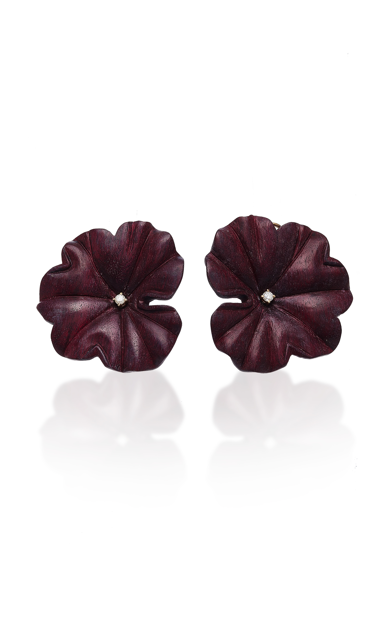 moda purple operandi large earrings by amethyst sabbadini loading flower