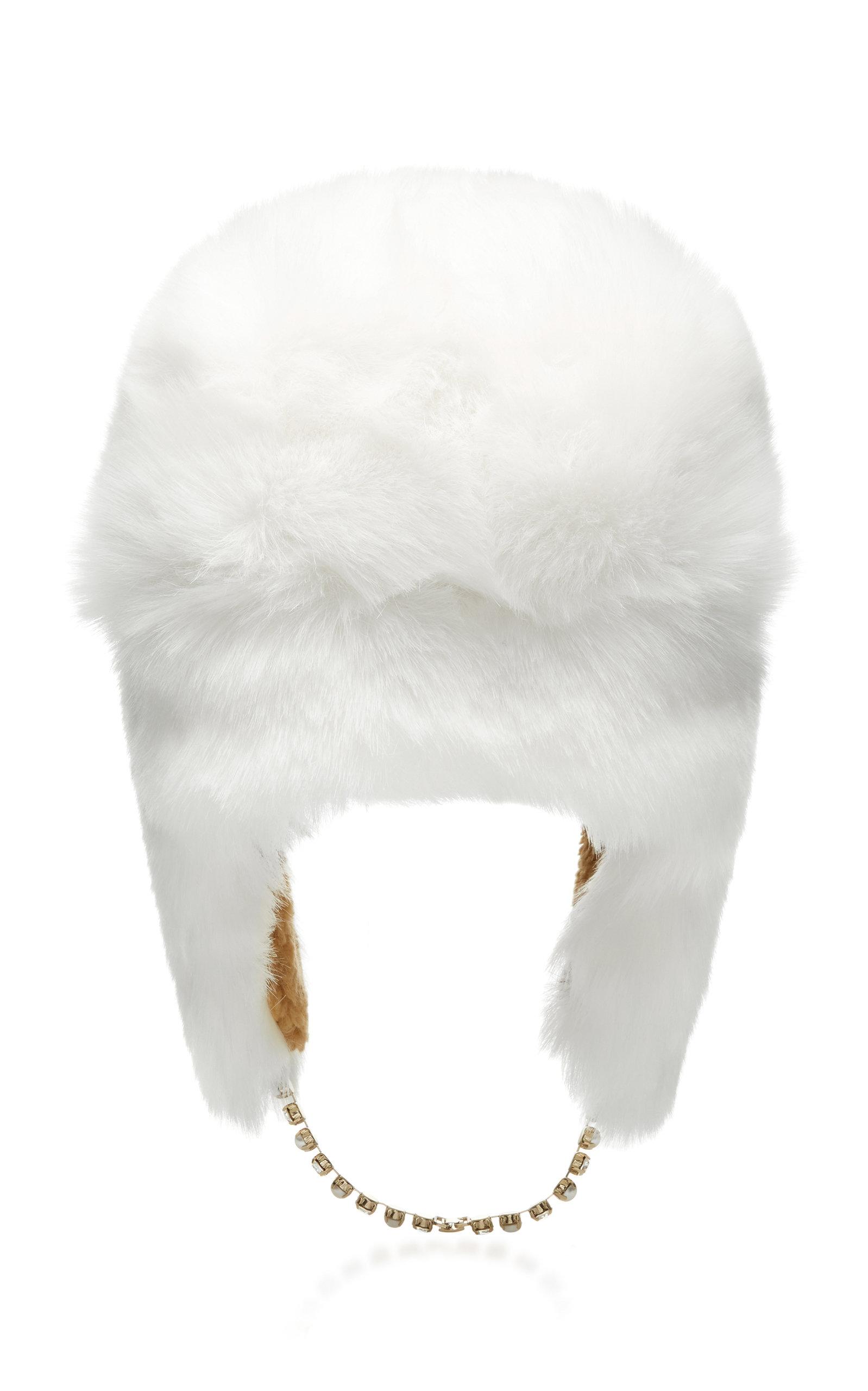 Ecofur Alaska Crystal-Trimmed Hat Federica Moretti wsufen30