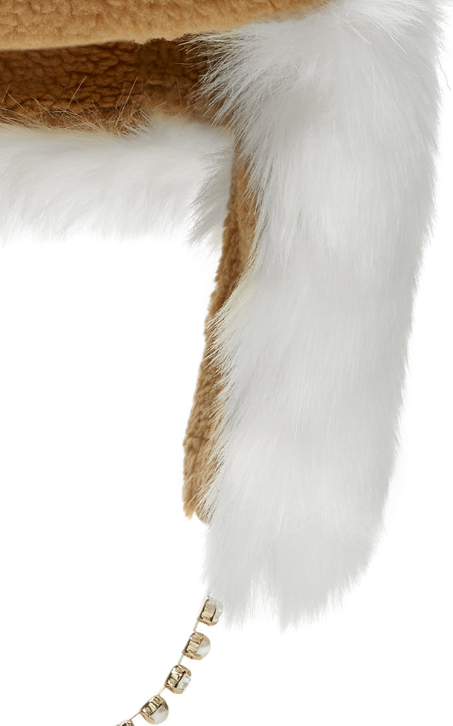 Ecofur Alaska Crystal-Trimmed Hat Federica Moretti j3NT12