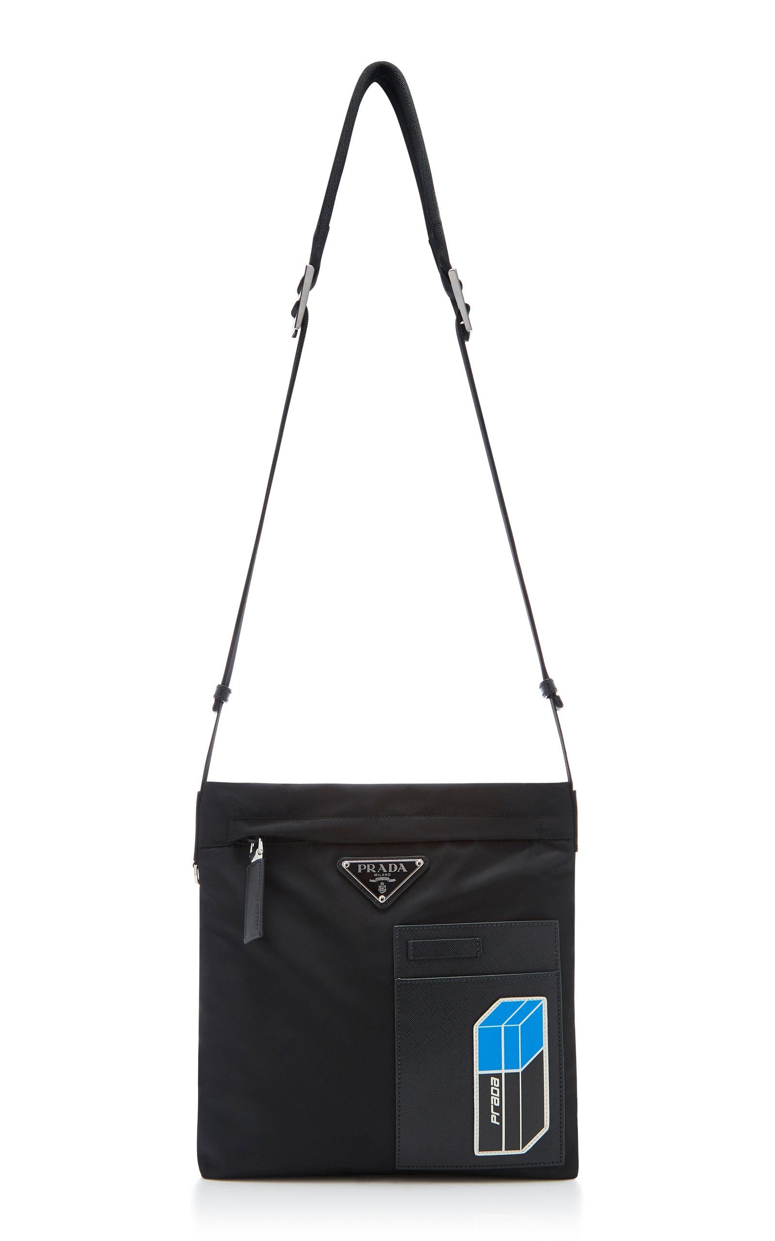 f83c7865 Leather-Trimmed Shell Messenger Bag