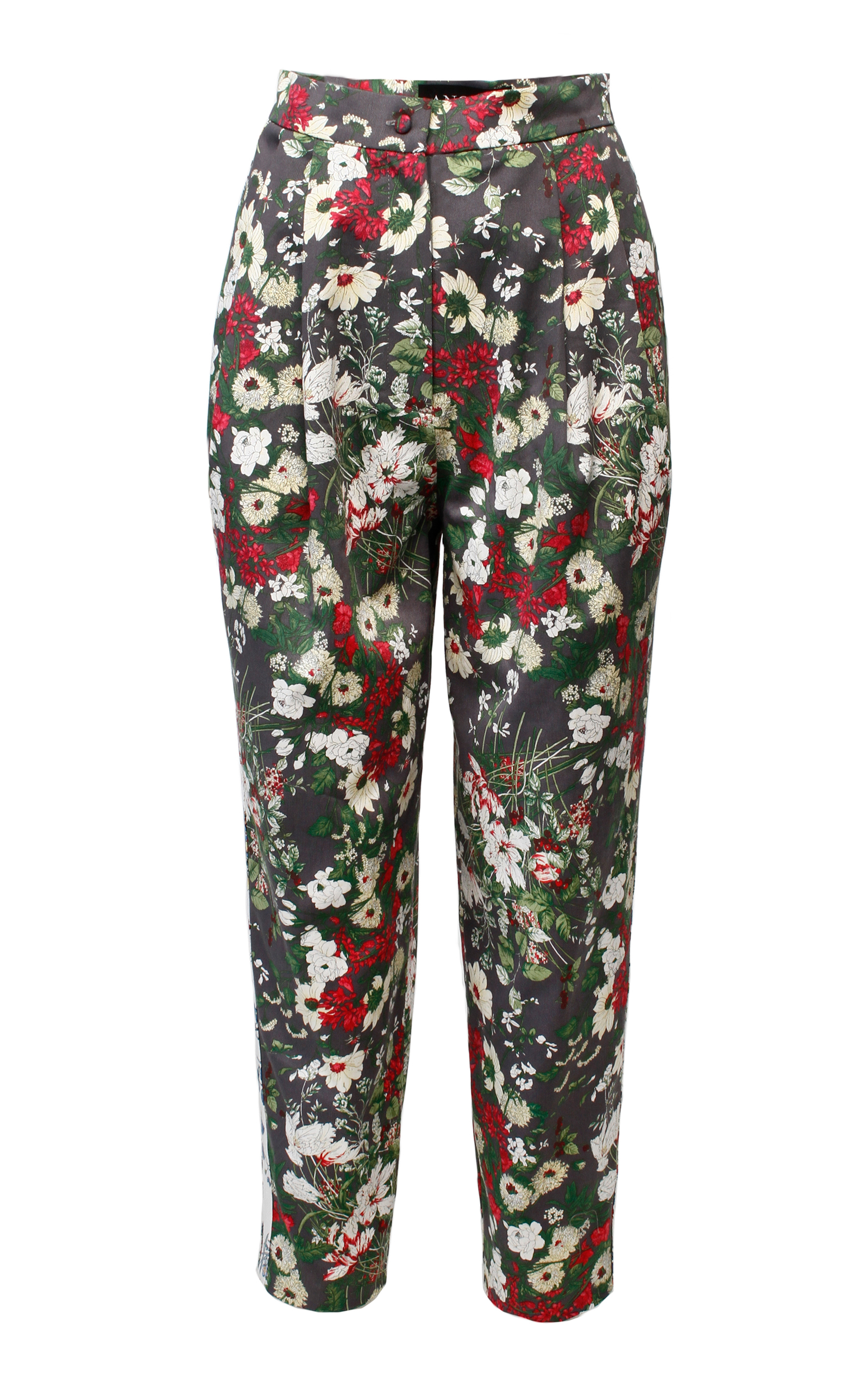 ANOUKI Multicolor Flower Print Cropped Pants in Floral