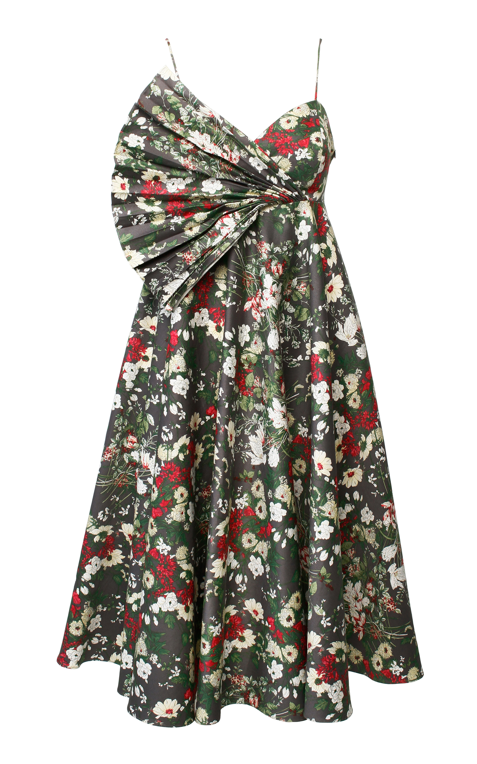 ANOUKI Multicolor Flower Print Dress in Floral