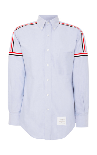 THOM BROWNE | Thom Browne Slim-Fit Striped Cotton Oxford Shirt | Goxip