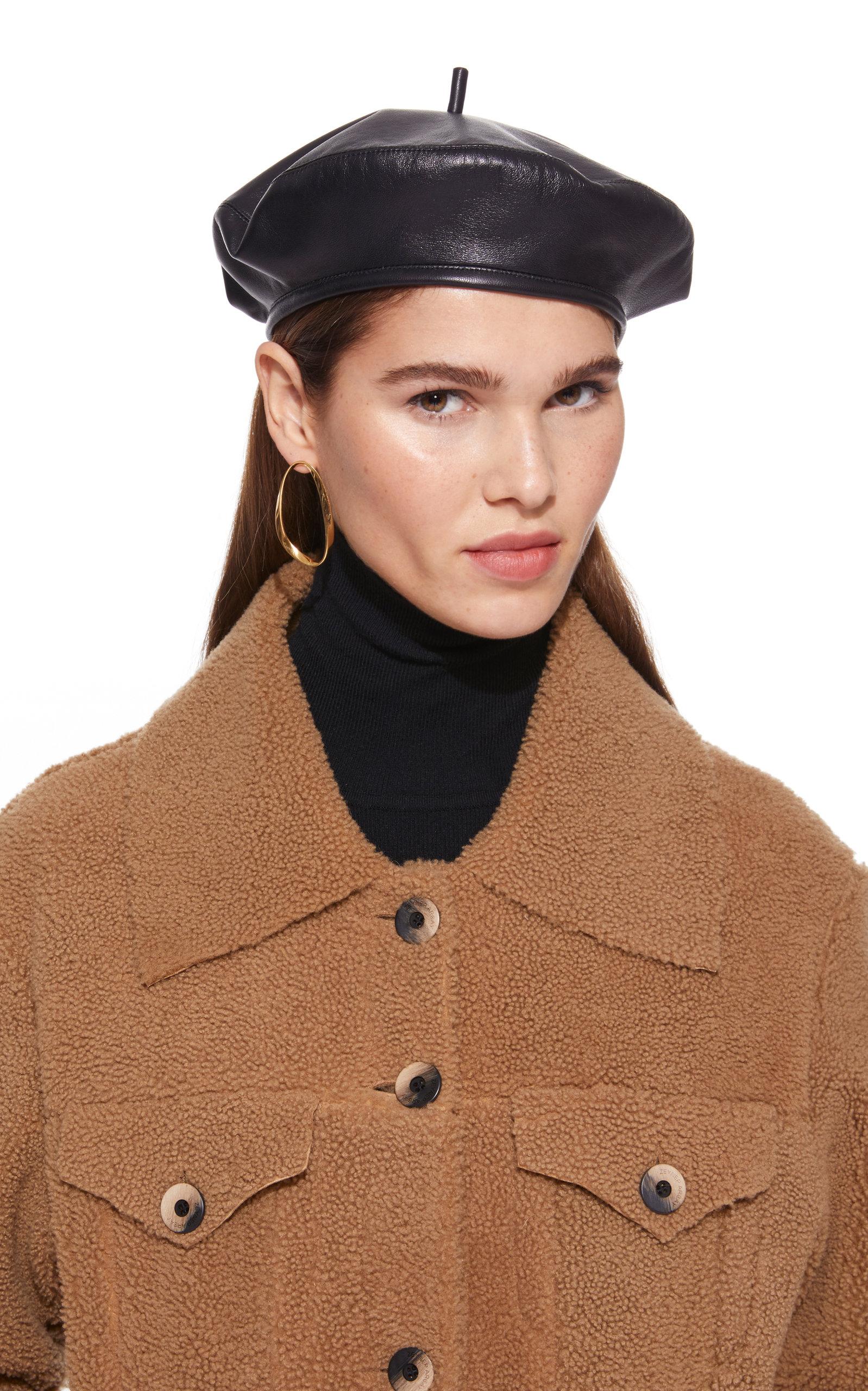 Eugenia Kim The Carter Leather Beret In Black  27610c9e774