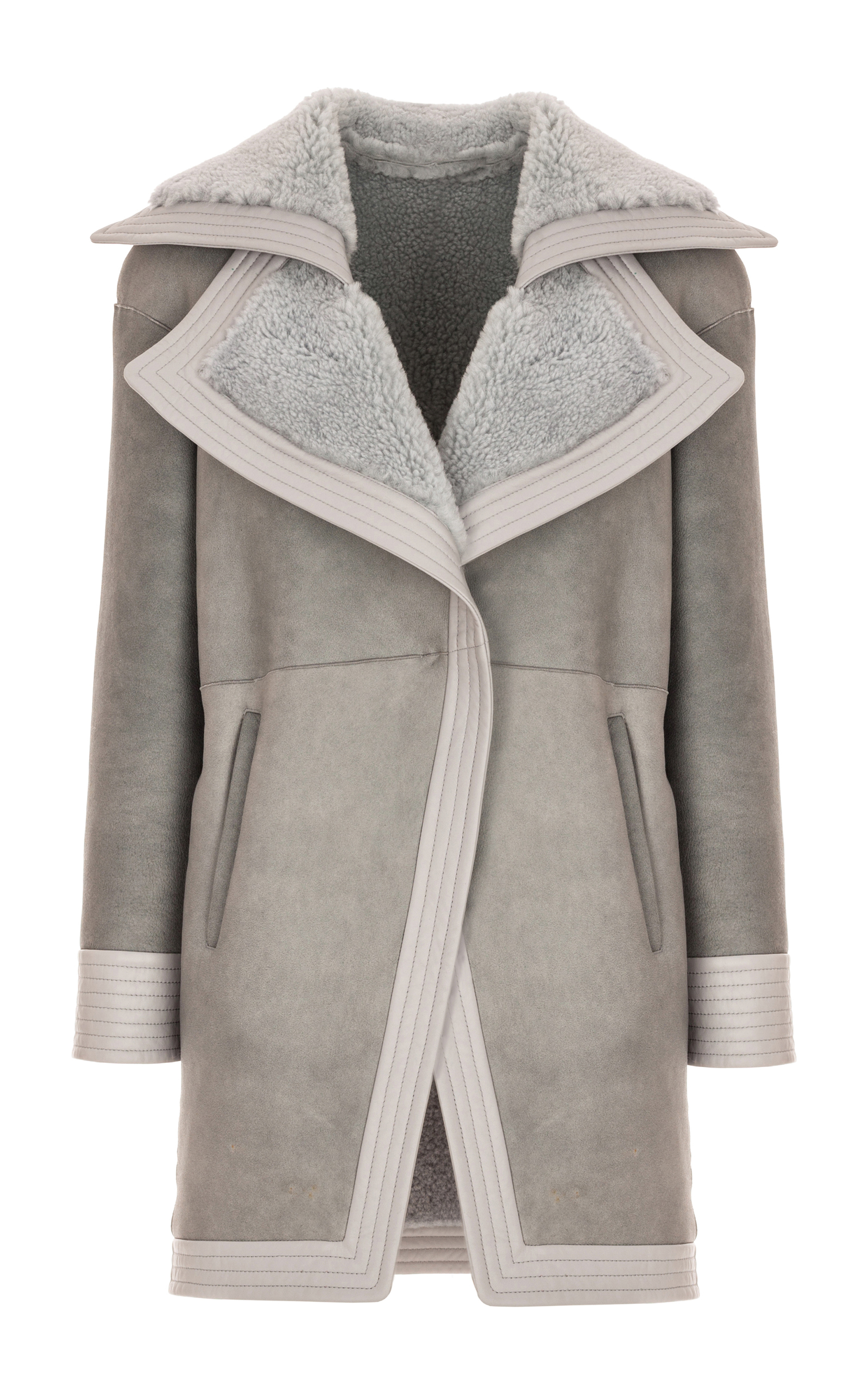 For Sale Sale Online Buy Cheap Cost Genny oversized sleeve coat Cheap Pick A Best Clearance Amazing Price JORKX9n3h1