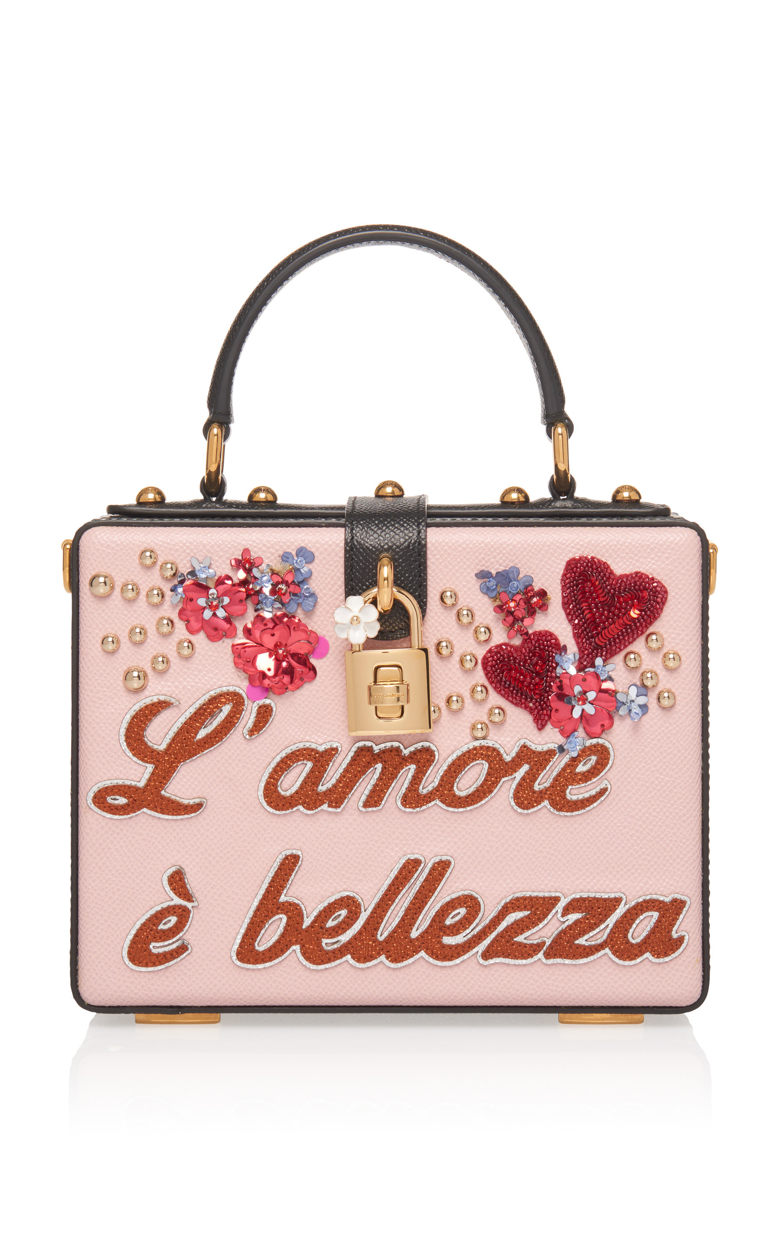 DOLCE & GABBANA | Dolce & Gabbana Embellished Leather Box Tote | Goxip
