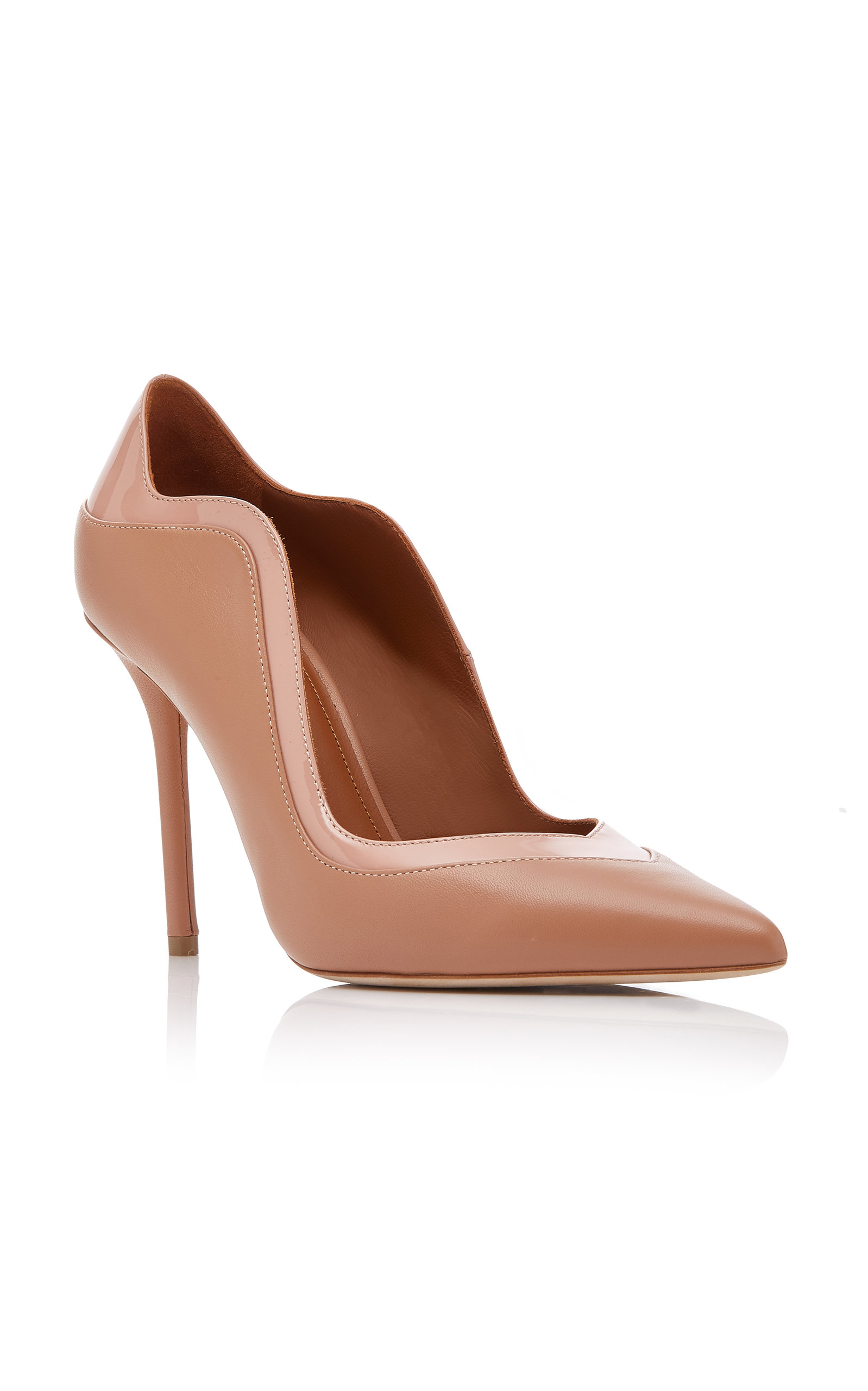 MALONE SOULIERS Penelope Paneled Leather Pumps