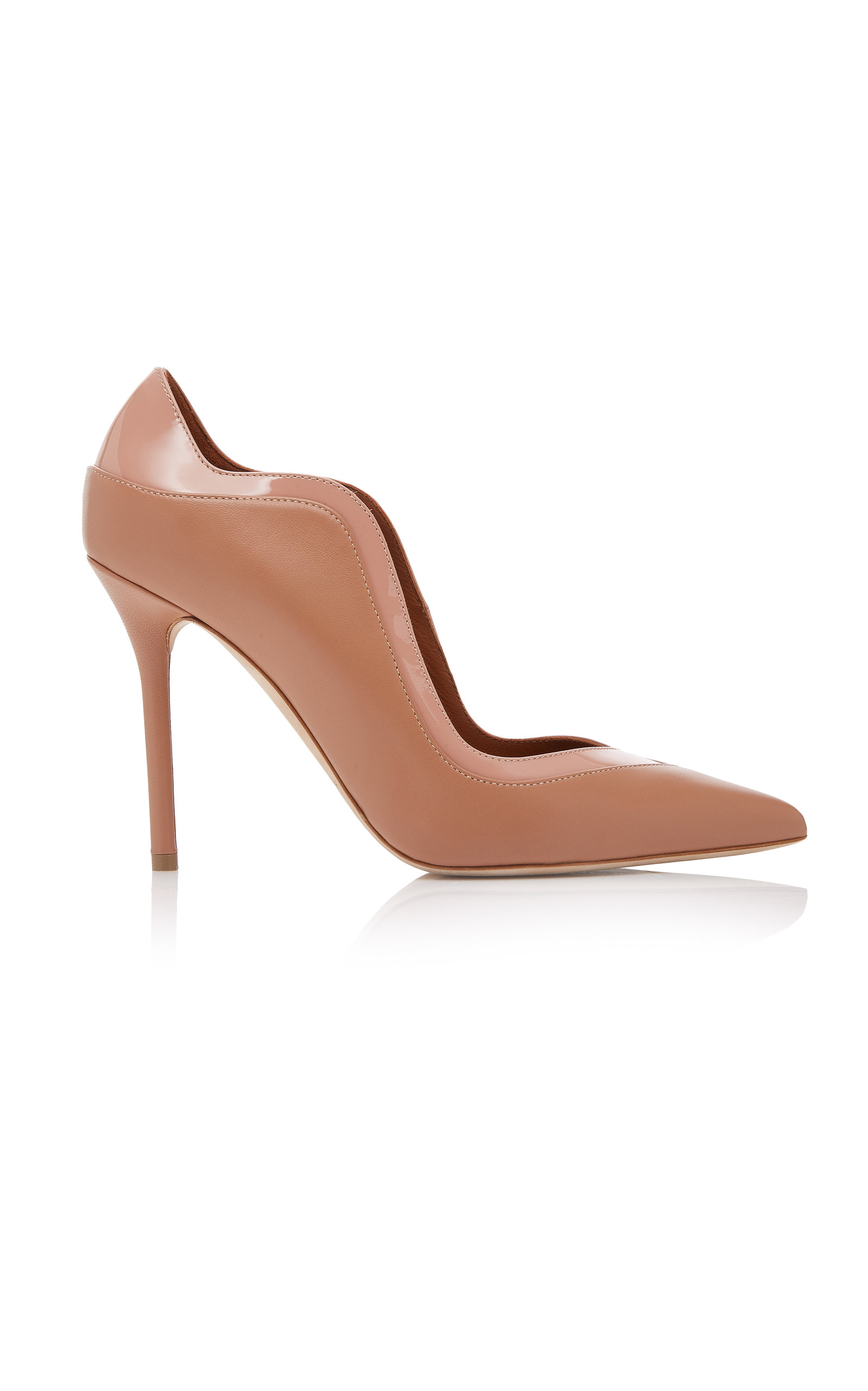 Penelope Nude And Blush Nappa Leather Pumps in Neutrals