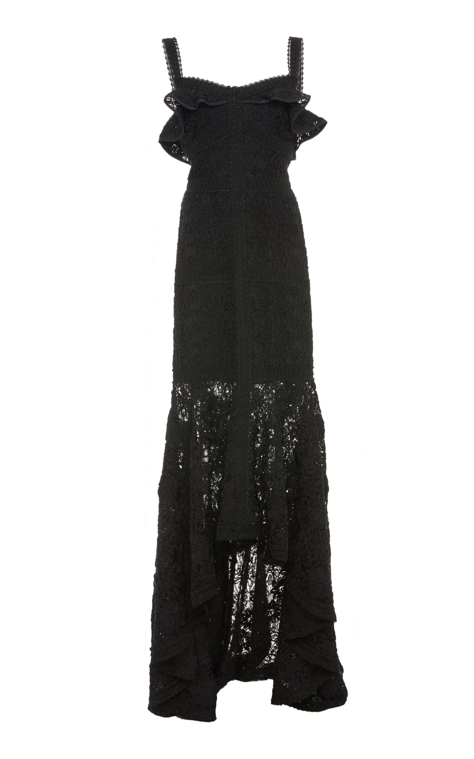 Vicenzo Lace Gown, Black