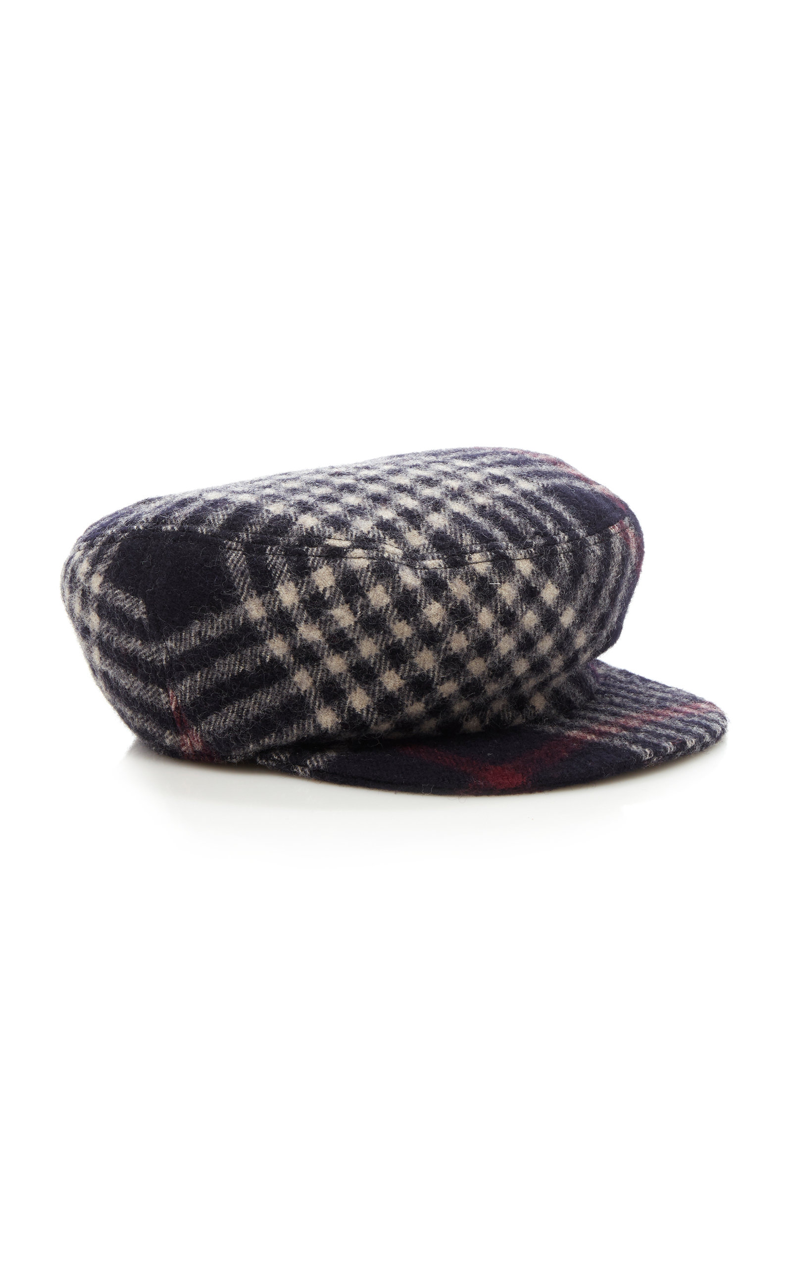 Naly Checked Wool Cap Isabel Marant