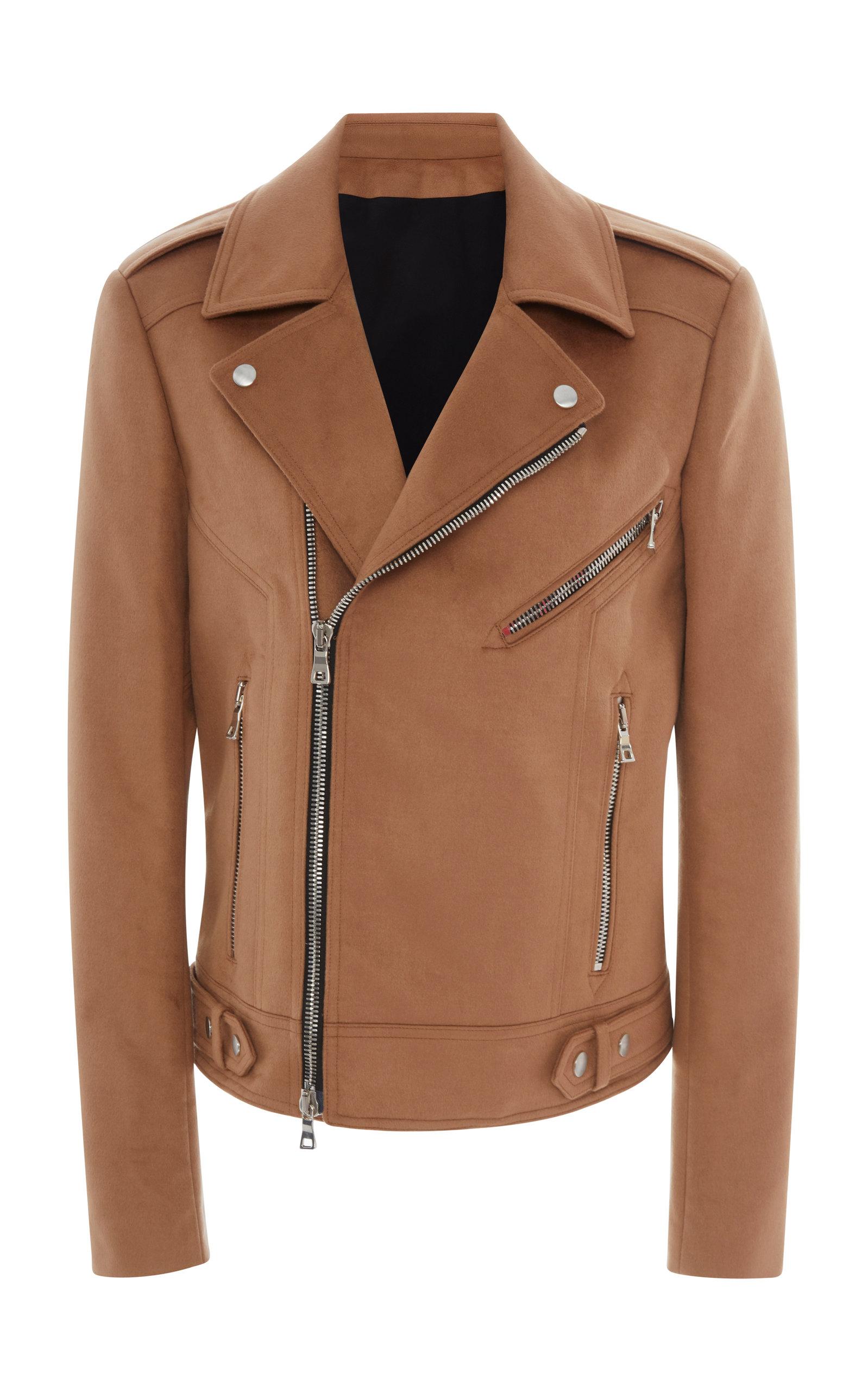 In Asymmetrical Zip Balmain Moto Jacket Neutral IHCWIPwq