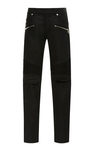 BALMAIN | Balmain Skinny-Fit Zip-Detailed Distressed Stretch-Denim Jeans | Goxip