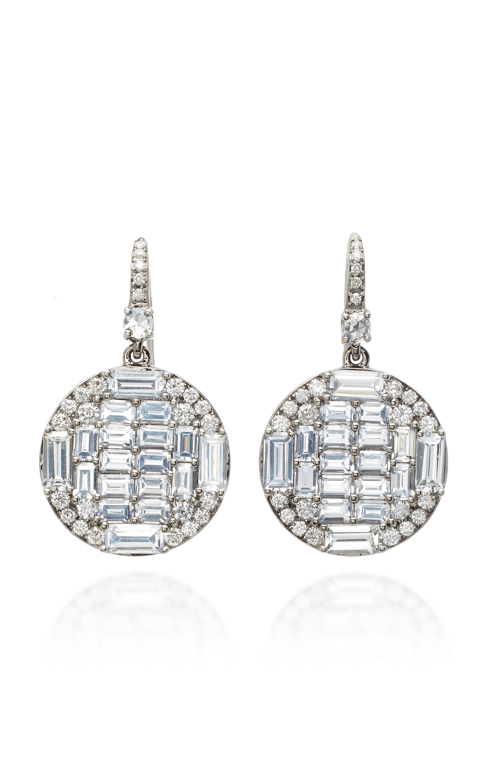 NAM CHO 18K White Gold Sapphire And Diamond Earrings